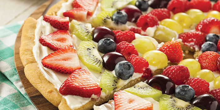 how to make fruit pizza frosting